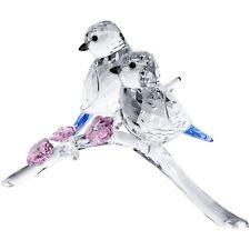 PRE-OWNED Swarovski Tits Figurine, Blue 5004727 ONE BIRD IS BROKEN OFF