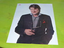 JACQUES DUTRONC -  VINTAGE PROMO BIO/POSTER FROM THE 80'S!!!!!!!!!!!!!!!!!