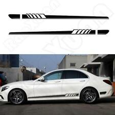 2pc Universal 1 Style Car Body Side Stripes Skirt Vinyl Decals Sticker Car Decor