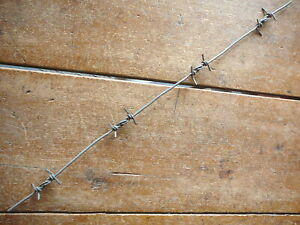 ABBOTTS DOUBLE KINK INTERLOCKED LOOPS 4-PT ALL ALUMINUM   - ANTIQUE BARBED WIRE
