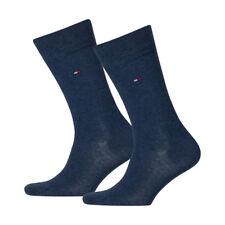 6 Paar Tommy Hilfiger Herren klassische Socken Strümpfe 39-42 jeansblau