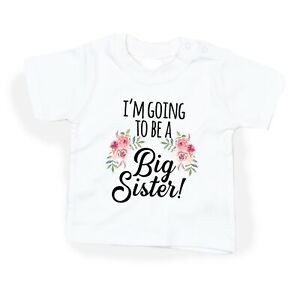 I'm going to be a BIG sister girl Shirt, Big Sister Announcement top - DOVITEE
