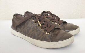 MICHAEL Michael Kors Women's City Sneaker MK Signature Size 7.5 Brown RARE