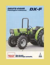 DEUTZ FAHR DX 3.30 F  DX 3.50 F  DX 3.70 F  DX 3.90 F Plantagen Traktoren 1986