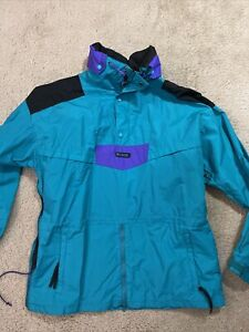 Vintage 90's Columbia Ski pull over Bright Shell Anorak Jacket Men's Size Large