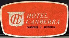 Canberra Australia ~ Hotel Canberra ~ Vintage Luggage Label