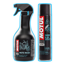 Motul MOTO WASH & SHINE Motorcycle Motocross MX Cleaner Gets Muc Off - BUNDLE