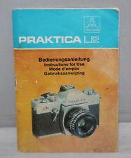 Praktica L2 - Vintage 1977 Camera User Manual