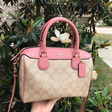 NWT Coach F58312 Mini Bennett Satchel Handbag Shoulder/Crossbody Vintage Pink