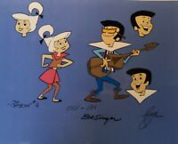 Hanna Barbera: Jetsons: Judy and Jet Original Model Cel Signed by Bob Singer