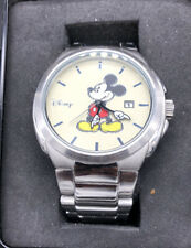 Disney Men's Mickey Stainless Steel Silver Tone Watch MK2085 Date Movement New