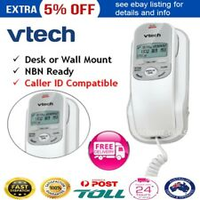 NEW Home Phone Telephone Wall Mountable NBN Ready Corded Caller ID Display