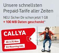 WOW Anfänger Karte Vodafone D2 1,5 GB +100MB  500 Mbit/s 4G LTE + 200 Frei Min.