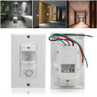 Lot Auto On/Off Infrared PIR Occupancy Vacancy Motion Sensor Light Lamp Switch U