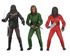 """Planet of the Apes 7"""" Scale Figure Set - Aldo, Caesar & Conquest Gorilla - NECA"""