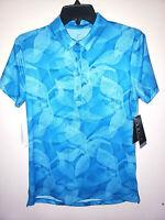Womens Nike Dri-Fit Short Sleeve Blue Golf Polo Shirt New NWT Size Small S