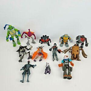 Vintage 1980s TMNT Teenage Mutant Ninja Turtles Action Figure Lot Of 12 Toys