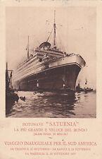 * Navi passeggere - Cosulich Line - Saturnia 1927 Maiden Voyage