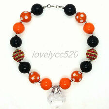 Necklace for Kids Halloween Gumball Cn146 White pendant Chunky Beads Bubblegum