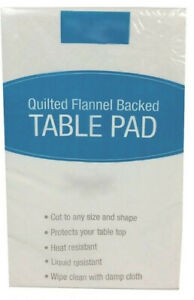 Dining Table Protector Pad Quilted Flannel Backed Spill Resist Cut to Fit Sizes