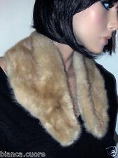 COLLO VISONE bianco Pelliccia beige stola scarf mink fur artic ART E0522 28 B24