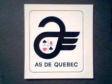 AHL QUEBEC ACES  1960'S TEAM LOGO DECAL CARD