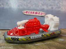 2012 Beach Rescue HOVERCRAFT boat∞Red & Gray∞Rescue Lifeguard∞New LOOSE Matchbox