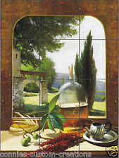 Tuscan Window Artistic Tile Mural Kitchen Back Splash Ceramic Custom Design