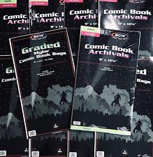 Pack of 25 Bags BCW Graded Comic Mylar - 2 Mil. Heavy Duty 9 x 14 1/4 (#CS17)