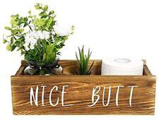 Nice Butt Bathroom Decor Box, Funny Toilet Paper Holder, Rustic Bathroom Decorat