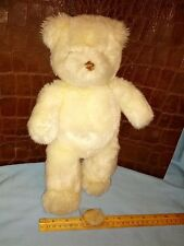 GUND VINTAGE WHITE TEDDY BEAR NAMED TINY PINEY # 8821 ( NEAR MINT )
