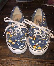 *RARE* VANS Disney's Donald Duck Navy Shoes Size Men's 3.5 Women's 5