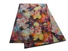 Sciarpa a fiori Pashmina double face misto lana multicolor nuova stola