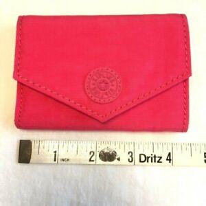 NWT Kipling Carmen Mini Wallet / Card Case Vibrant Pink