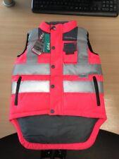 Rockfish Riders Hi-Vis Bodywarmer Pink Jacket Horse Riding Equestrian 6-7 yrs