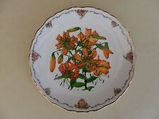 """Royal Albert Bone China Plate Queen Mothers Favourite Flowers """"Tiger Lily"""""""