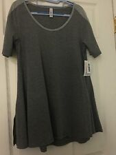 Lularoe Perfect T XS Gray Solid NWT two tone sleeve