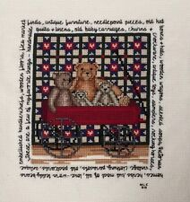These Are A Few Of My Favorite Things Teddy Bear Completed Cross Stitch 11x14