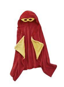 Lightning Bug Superhero Kids Red Plush Hooded Throw NWT Christmas Birthday Gift