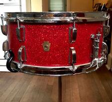 "WFL LUDWIG snare drum. 3 ply Mahogany interior. 6.5X15"" COB hoops"