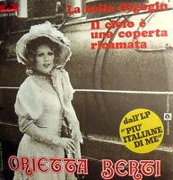 "EP RARE ORIETTA BERTI 7"" LA BELLA GIGOGIN +3 DA LP "" PIU' ITALIANE DI ME "" 1972"