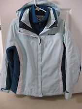 Blues Aquas Teals Columbia Omni-Shield 3 in1 Jacket / Women's Large / BNWT