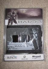 "Halo ""Sniper"" gray/black BIFOLD WALLET+clip Xbox 360/One/X, 1 2 3 4 5 wars reach"