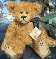 """VINTAGE BOYDS TEDDY BEAR MOHAIR 16"""" LINCOLN BEARINGTON GOLD SEAL TAG NICE COND"""