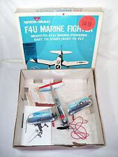 1953 WEN-MAC AMF F4U Corsair Marine Fighter Control Line Model Airplane & Box #1