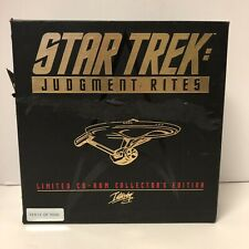 Star Trek Judgement Rites Limited CD-ROM Collector's Edition PC 1995 BOX ROUGH