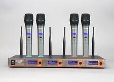 4 Channel VHF Handheld Wireless Microphone Mic System SM-5520