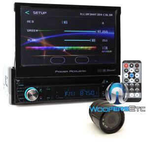 "pkg POWER ACOUSTIK 7"" TV CD DVD BLUETOOTH MP3 USB EQ CAR VIDEO + REARVIEW CAMERA"
