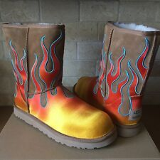 UGG x Jeremy Scott Classic Short Flames Chestnut Fur Boots Size US 13 Mens LAST!