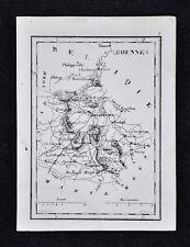 1833 Perrot Map - Ardennes - Vouziers Mezieres Rethel Rocrov Sedan Mouxon France